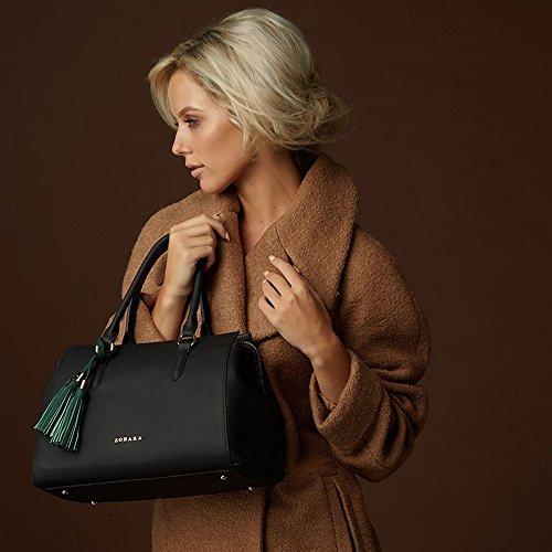 Zohara Grab Handle Bag - Wren Black