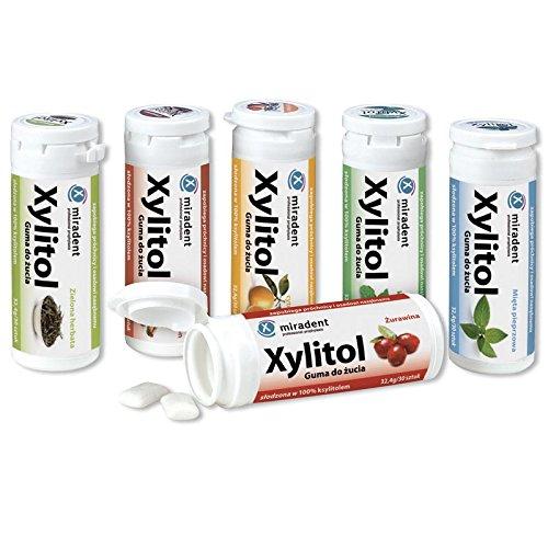Miradent Xylitol Chewing Gum Zahnpflegekaugummis Probierpaket (6x 30g)