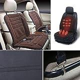 Sedeta almohadilla de calefacción del coche Calentador eléctrico de invierno Funda de cojín del asiento de coche para el conductor DC12V con controlador de temperatura