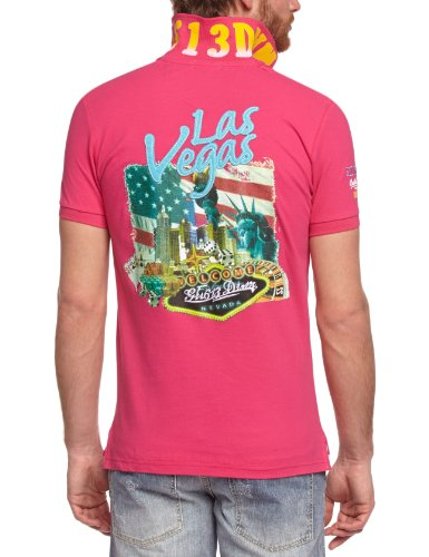 Gangster Unit Herren Polo Shirt Pink (Flash Pink)