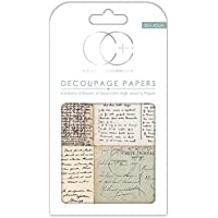 Papel decorativo de gran calidad para découpage marca Craft Consortium, diseño de postales antiguas