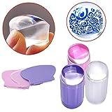 Biutee Model DIY Transparente Silikon Nail Art Nagelstempel Maniküre Nail Art Werkzeug mit NagelSchaber Nail Art Stempel Tool Kit