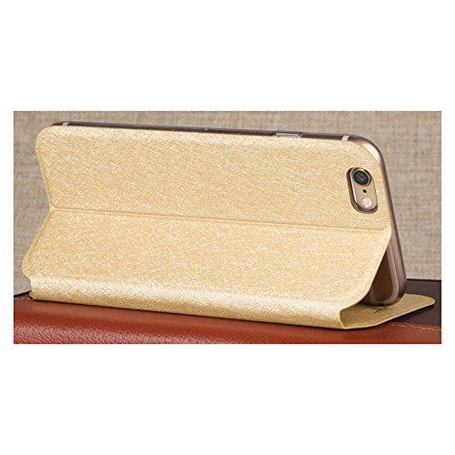 Noir Football Style PU Cuir Coque Flip Case TPU Silicone dos back Etui Housse + Protecteur écran Pour iPhone 6 / 6S 4.7-inch Vooway® MA00095 Doré