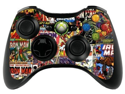 Price comparison product image Comics Superhero Xbox 360 Remote Controller/Gamepad Skin / Vinyl Cover / Vinyl xbr8