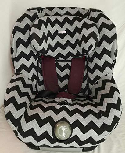 MOON-BEBE housses pour maxi cosi bebe confort opal (gris zigzag)
