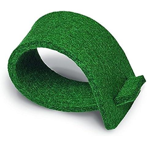 Paper + design tovaglioli anelli, in feltro, verde scuro 03029
