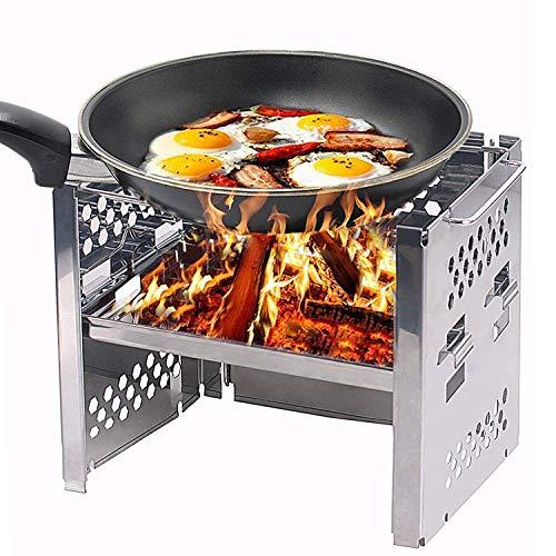 GYH-CHU Griglia a Carbone per Barbecue Stufe a Legna per Picnic Fornello per Barbecue da Picnic/Pieghevole da Cucina Pieghevole in Acciaio Inossidabile Pieghevole