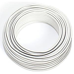 Conducto de Tubo Flexible Kopp 151510843 H03 VV-F 2 x 0,75 mm/², 10 m Color Blanco