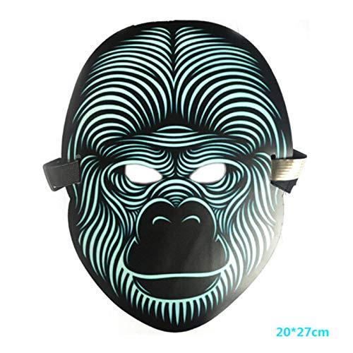 Tänzer Pop Kostüm - MASKUOY Halloween-Maske Halloween Scary Led Leuchtende Blinkende Gesichtsmaske Leuchten Flash Wire Party Festival Kostüm Party Maske Cosplay Pop
