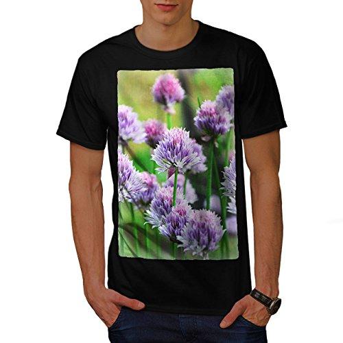 Klee Blume Wild Natur Natur Herren M T-shirt | Wellcoda (Licht-t-shirt Klee)