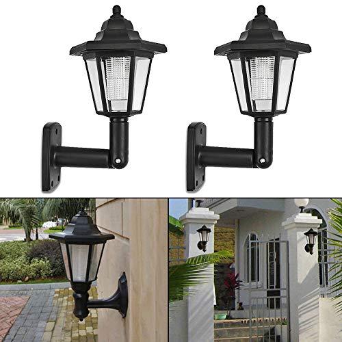 ToDIDAF Solar Power LED-Licht, Weg im Freien Wand Landschaftsmontage Gartenzaun Lampe, für Garten/Wand/Hof/Rasen/Home/Restaurant Dekoration, 2 Pcs -