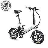 FIIDO D3 Bicicletta elettrica pieghevole per adulto, E-bike, Scooter elettrico 14 pollici con faro a LED, Bicicletta elettrica pieghevole da 7.8Ah con freno a disco, fino a 25 km/h