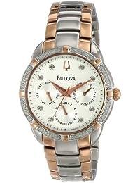 (CERTIFIED REFURBISHED) Bulova Diamond Analog White Dial Women's Watch - 98R177