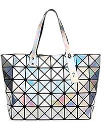 a4e9e312c2ac7 BUOU Shopper Taschen Frauen Handtaschen Plaid Geometrie Tasche Folding Damen  Tote