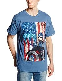 Marvel Men's Captain Civil War Painted America T-Shirt