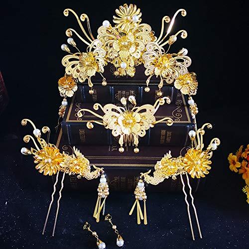 he Haarschmuck, Kostüm Pfau Phoenix Krone, Zeigen Wo Kleidung Kopfbedeckungen, Gold Quaste Krone ()