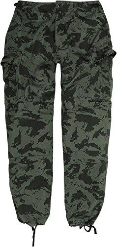 Canvas-baumwoll-shorts (Herren Army Cargohose Comfort Fit aus strapazierfähigem Materialmix? Farbe Russian Taiga Camo Größe XXL)