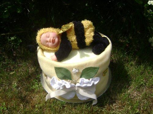Preisvergleich Produktbild Unisex Baby tief Füllen Luxus Anne Geddes Bumblebee Windeltorte/Geschenkkorb