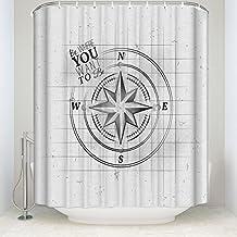 """suabo decorativa cortina de ducha de tela de poliéster resistente al agua de baño cortina con 12ganchos 60""""(W) 66"""" x 72(H), diseño de, Vibrant verde rayas"""