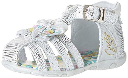 Catimini Cygne, Chaussures Marche Bébé Fille Blanc (11 Vte Argent Dpf/Zabou)