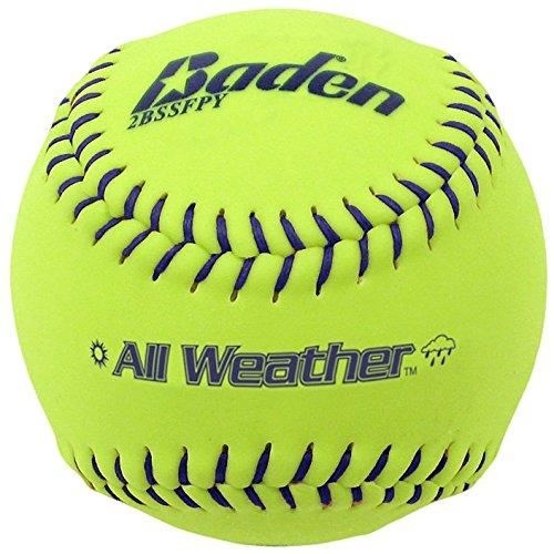Baden Allwetter-Übungsball, 12 Stück, Mädchen, All-Weather Practice Softball 11