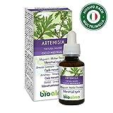 ARTEMISIA (Artemisia vulgaris) erba con fiori BIOALMA® Tintura Madre analcoolica | Estratto liquido gocce 60 ml | Contrasto disturbi ciclo mestruale | Integratore alimentare | Vegano