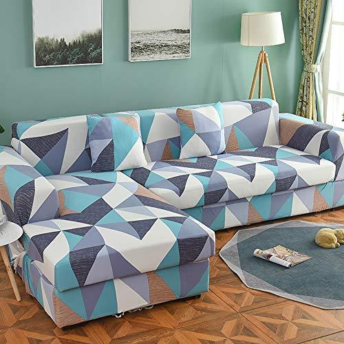 QHQH 1-Pezzo Elasticizzato Copridivano Coprisofà Sofa Cover per Casa Decorativa per Divano con Stampa di Fiori Elastico Copridivano all-Inclusive, Diversi Colori e Dimensioni
