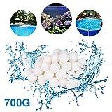Hbitsae 700g Filtro Balls,Sfere per Filtrazione a Sabbia per Piscine,Filtro 8L Media per Piscina Filtri per Acquario Alternativa alla Sabbia (1,5 Lbs Filter Ball è equivalente a 50 Lbs Filter Sand)