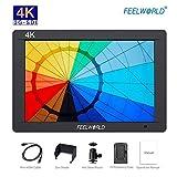 FeelWorld FW703 Monitor Esterno Reflex LCD 7 '' 3G-SDI, Monitor da Campo con Connessione 3G-SDI Full HD 4K HDMI per Canon Nikon Panasonic Sony, Kit Batteria F550