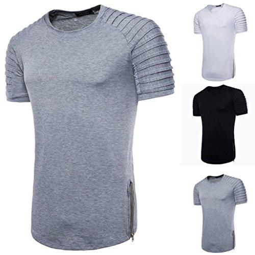 T-Shirt Décontracté, Malloom Blouse à Manches Courtes à Manches Courtes et à Manches Courtes