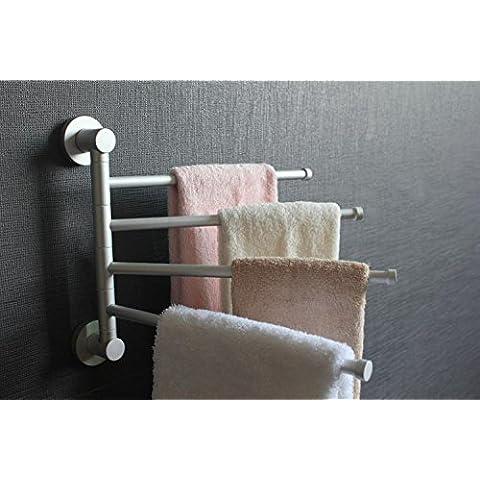 XIAOMINZI 4-ArmTowel Bar Matte muro bagno montati Accessori Asciugamano Rack alluminio contemporanea il braccio dell