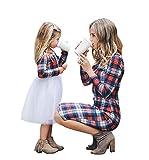 Loalirando Schönes Mutter Tochter Kleider Matching Outfits Christmas Patnerlook Kleid Spitzen Prinzessin Kleid (5-6T, Kids)