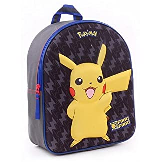 Vadobag Pokémon Rucksack – Pikachu (3D Relief) [Importación Alemana]