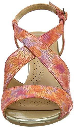 Van Dal Allora, Sandales compensées femme Orange (coral Blossom)
