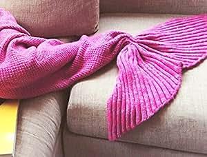yunnasi decke meerjungfrau schwanz baumwolle flossen bettdecke kuscheldecke wolldecke f r kinder. Black Bedroom Furniture Sets. Home Design Ideas