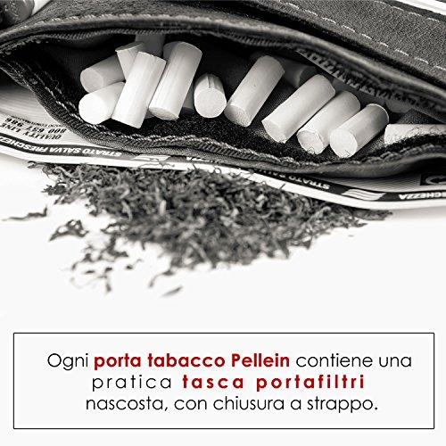 confronta il prezzo Pellein Portatabacco In Vera Pelle Mod. Nero Hero miglior prezzo