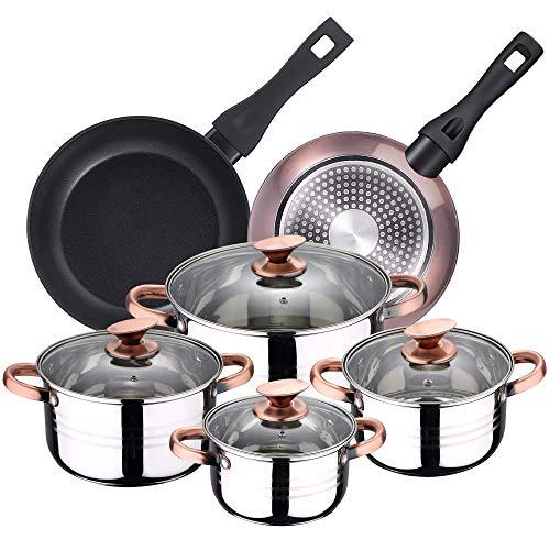 Imagen de Batería de Cocina Para Inducción Bergner por menos de 65 euros.