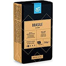 "Marca Amazon - Happy Belly Caffè tostato macinato ""BRASILE"" (4 x 250g)"