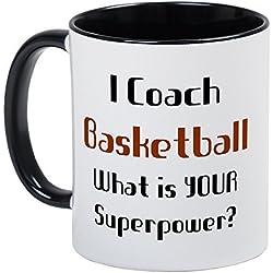 Funny entrenador baloncesto tazas de café para las mujeres Navidad taza regalos para hombres ml taza de cerámica taza