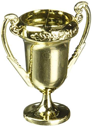 """Amscan Award Trophies 2.5"""" 12/Pkg-Gold"""