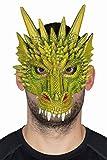 Kostüm Zubehör Maske Drache Drachenmaske Karneval Halloween
