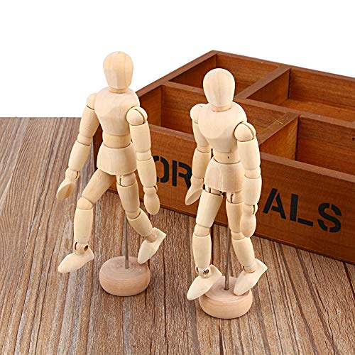 """Yosoo 4.5"""" 5.5"""" 8"""" Artist Male Wooden Figure Model with Movable Limbs for Sketching Drawing Aid Mannequin Manikin (4.5""""+5.5""""+8"""")"""