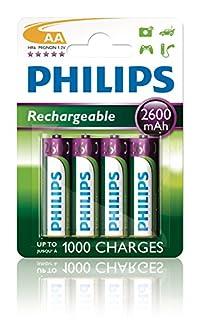 Philips R6B4B260/10 - Pack de 4 pilas recargables (NiMh, AA) (B000L0GR1K) | Amazon price tracker / tracking, Amazon price history charts, Amazon price watches, Amazon price drop alerts