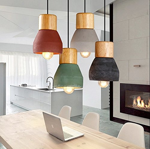 olqmy-single-head-lamp-wood-cement-multicolor-green