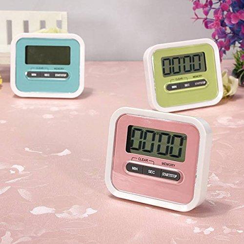 ELEGIANT Digital große LCD Display Küchentimer Küchenuhr Kurzzeitmesser Kurzzeitwecker elektronischer Timer KITCHEN COOKING Time ''Countdown'' mit Magnethalter Rosa