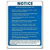Poolmaster 40368Public Pool Vorschriften Schild für privaten oder gewerblichen Pools