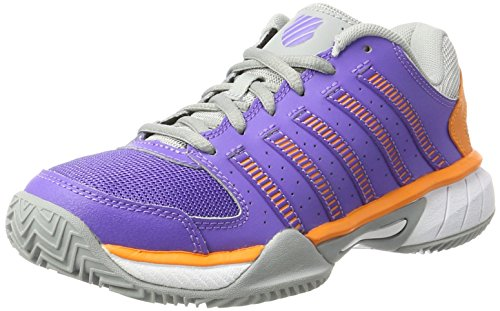 K-Swiss Performance Damen Express LTR HB Tennisschuhe, Violett (Purple/Orange), 39.5 EU (K-swiss Purple Schuhe)