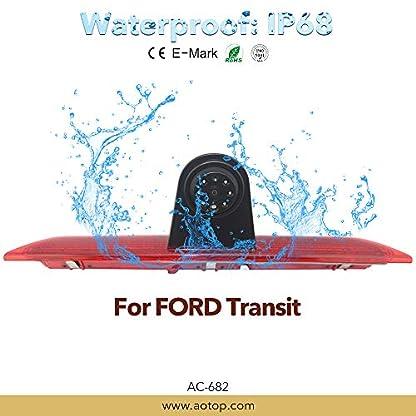 Auto-Dritte-Dach-Top-Mount-Bremsleuchte-Kamera-Bremslicht-Einparkkamera-Rckfahrkamera-Set-Nachtsicht-Kamera-7-Zoll-Monitor-TFT-Bildschirm-LKW-KFZ-Display-fr-Ford-Transit-Jumbo-F150F250F350