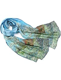 6b3f3edfa9b Prettystern - Peinture sur soie 160cm art print foulard de soie Claude  Monet - différents modèles