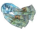 Prettystern 160 cm langer Seiden-Schal Malerei Kunst-Drucke - Van Gogh - Pfirsich in der Blüte P912